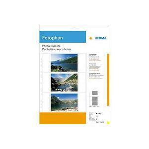 Herma 7584 - Pochettes pour photos Fotophan, format 21 x 29,7 cm, pour photos 9 x 13
