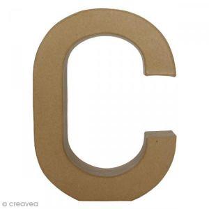 decopatch AC396O - Lettre C fantaisie majuscule, en papier mâché