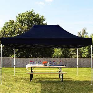 Intent24 Tente pliante / pliable PREMIUM 3x4,5 m sans bâches de côté en Polyester de qualité noir.FR
