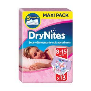 Huggies Culottes De Nuit Fille T 8-15 Ans Drynites - Le Paquet De 13