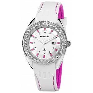 Orphelia OR22171171 - Montre Femme - Quartz Analogique - Cadran Multicolore - Bracelet Silicone Blanc