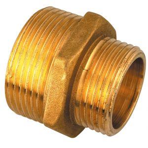 Réduction Mâle Raccords - Mâle laiton - Filetage 20 x 27 mm - 15 x 21 mm - Vendu par 25