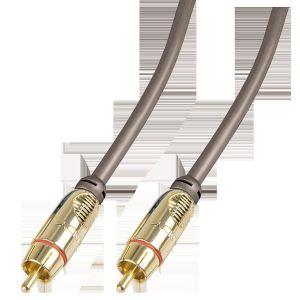Lindy 37898 - Câble audio / vidéo RCA Gold 3m