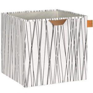 Lässig Cube de rangement jouets Allover rayures (32,5 x 33,5 cm)
