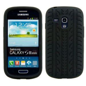 Kwmobile 14753 - Coque en TPU style Pneu pour Samsung Galaxy S3 Mini I8190