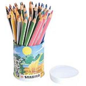 Stabilo 498001 - Pot de 38 crayons de couleur Trio assorties