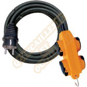 Brennenstuhl Rallonge Powerblock 4 prises 10m H07RN-F 3G2.5 : 1151781