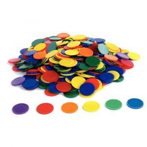 Oz international Lot de 500 jetons en plastique, 6 couleurs assorties