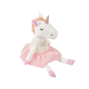 Soft Friends Peluche Licorne Robe rose et blanche 42 cm