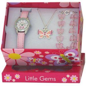 Ravel R2217 - Coffret montre pour fille avec bracelet et collier papillon