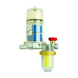 Afriso Eurojauge Filtre/Dégazeur automatique fioul monotube FloCo-Top-1K + robinet arret