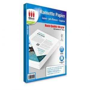 Micro application Papier d'impression Micro Appli Ramette de papier haute qualité A4 - 250 feuilles - 160g/m²