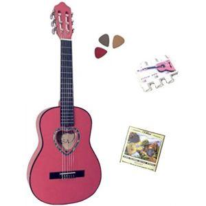 MSA Musikinstrumente Pack guitare classique 1/4 rose 3 accessoires pour enfant