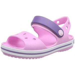 Crocs Crocband, Sandales Mixte Enfants, Rose (Carnation/Blue Violet), 34-35 EU
