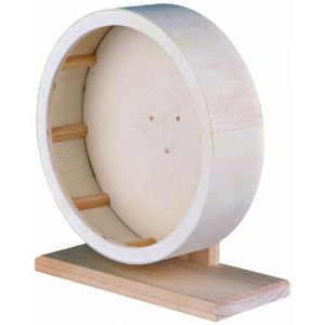 Trixie Roue d'exercice en bois pour rongeurs 22 cm