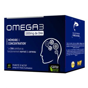 Sante verte Oméga3 1000mg de DHA 60 capsules