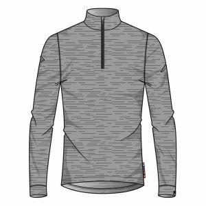 Odlo T shirt manches longues natural gris melange xl