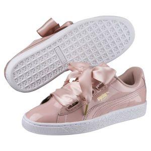 Puma Basket Heart Patent Wn's, Sneakers Basses Femme, Beige (Peach Beige-Peach Beige), 40 EU