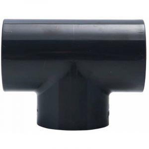 Jardibric Raccord en té 90° PVC pression F/F ø50 -