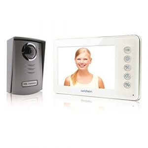 Avidsen Interphone vidéo 2 fils Ylva avec écran LCD couleur ultra plat 4,3 pouces