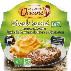 La Cuisine d'Océane Steak haché bio sauce poivre purée pommes de terre butternut