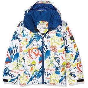 Quiksilver Mission Veste Homme, Snow White/Plaid 1, FR : XL (Taille Fabricant : XL)