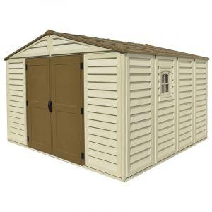 Duramax Abri de jardin PVC Woodstyle - 13,12 m²