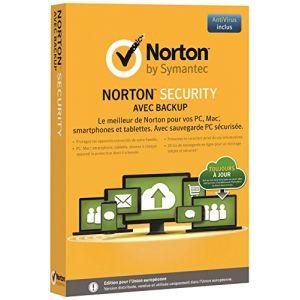 Norton Security avec Backup2015 (10 appareils, 1 an) [Mac OS, Windows]