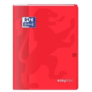 Oxford Cahier Easybook agrafé - 17 x 22 cm - 96p seyès - 90g - Rouge