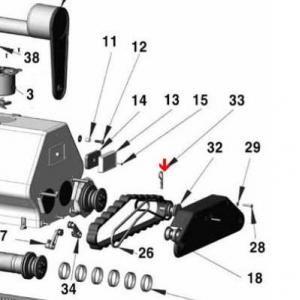 Procopi 1013007 - Goupille de moteur d'entraînement Patriote