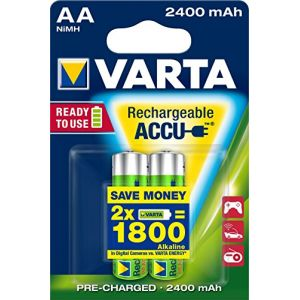 Varta Lot de 2 piles rechargeables AA Power