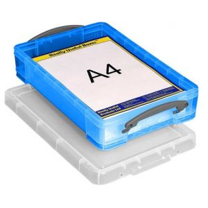 Really useful box 4TBB - Boîte de rangement en plastique 4 litres, en PP recyclé bleu
