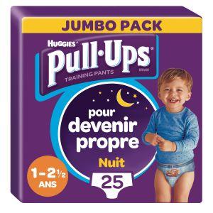 Huggies Culottes D'apprentissage Nuit Garçon De 1 À 2,5 Ans : 8-17kg Pull-ups - Le Paquet De 25
