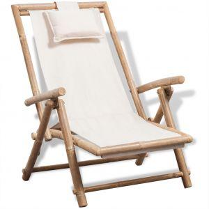 VidaXL Chaise de terrasse Bambou