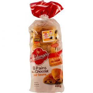 La Boulangère 8 pains au chocolat pur beurre 400 g