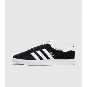 Adidas Gazelle, Baskets Basses Mixte Adulte, Black (Core Black/White/Gold Met), 38 EU