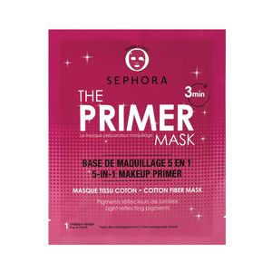 Sephora The Primer Mask - Base de maquillage 5 en 1 - Masque tissu coton