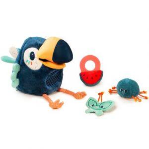 Lilliputiens Peluche d'activités Pablo le toucan pique-assiette