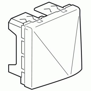 Legrand Sortie de câbles Mosaic 2 modules avec serre-câbles