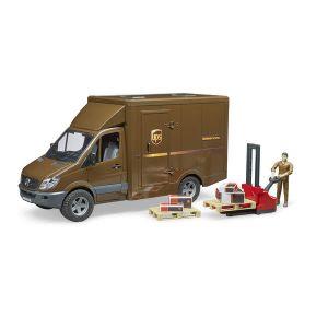 Bruder Toys Bruder - Camion de transport UPS MB marron, avec personnage et accessoires