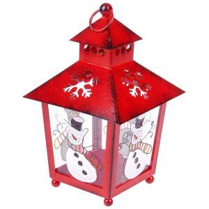Bougeoir lanterne en métal esprit de Noël