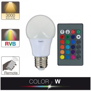 Xanlite Ampoule LED A60 - cuLot E27 - blanc et multi-color