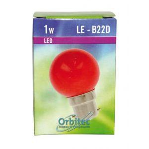 Orbitec LED sphérique B22D - pour guirlande - 45x70 - rouge