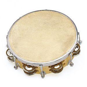 Fuzeau 3991 tambourin peau naturelle 20 cm avec cymbalettes