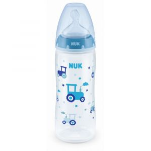 Nuk Biberon First Choice+ Temperature Control 360ml Silicone 6-18m Xl Garcon