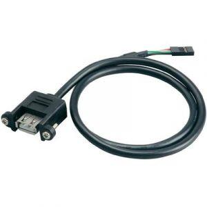 Akasa Câble de raccordement USB 2.0 femelle interne 4 pôles - USB 2.0 type A femelle
