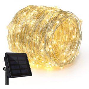 Cemonjardin Guirlande lumineuse solaire 100 micro LED