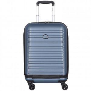 Delsey Valise rigide trolley cabine extensible Business Segur 2.0 4R 55 cm Bleu