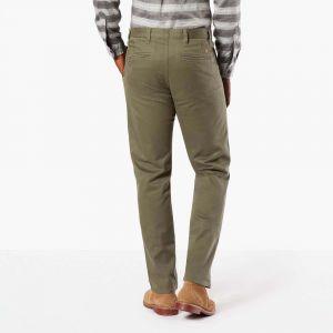 DOCKERS Pantalons Alpha Khaki Slim Tapered L32 - Stretch Twill Olive - W28-L32