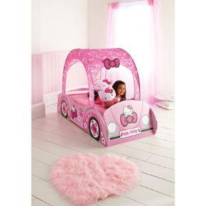 Worlds Apart Lit voiture Hello Kitty (70 x 140 cm)